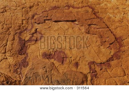 Design On Stone Wall