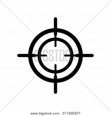 Crosshair Icon Vector Isolated On White Background. Outline Crosshair Icon Simple Sign. Telescope Cr