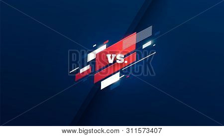 Horizontal Versus Screen, Logo Vs Letters For Sports And Fight Competition. Mma, Ufs, Battle, Vs Mat
