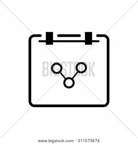 Flat Linear Design. Notepad Icon For Applications, Web Sites. Scientists Work Pad Or Note Pad With S