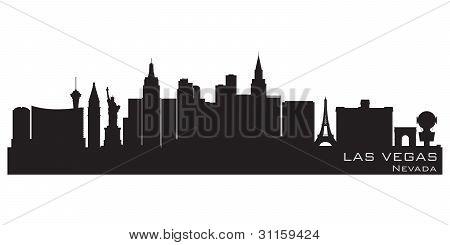 Las Vegas, Nevada Skyline. Detailed Vector Silhouette