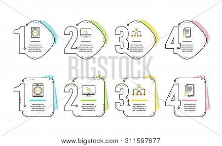 Washing Machine, Internet And Restructuring Icons Simple Set. Search File Sign. Laundry Service, Mon