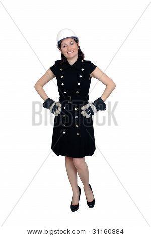 Beautiful Female Construction Worker (1)