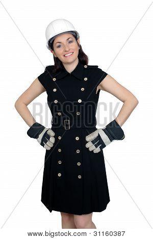 Beautiful Female Construction Worker (2)