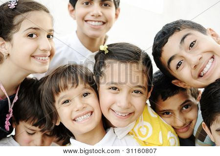 Gruppe von happy children