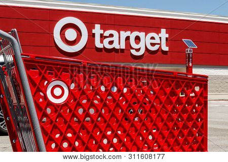 Lafayette - Circa July 2019: Target Retail Store Baskets. Target Sells Home Goods, Clothing And Elec