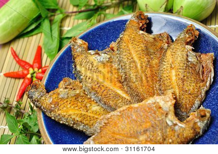 Fried Fish With Thai Spicy And Hot