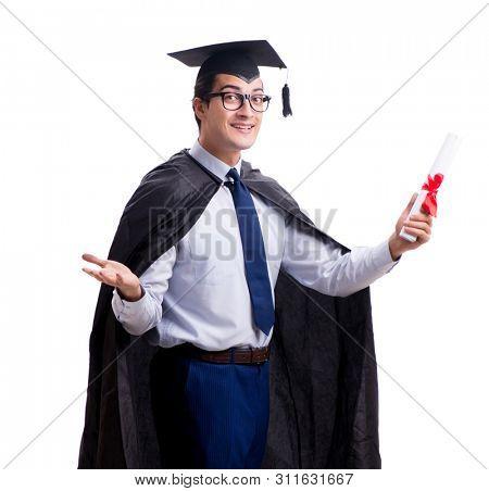 Student graduate isolated on white background