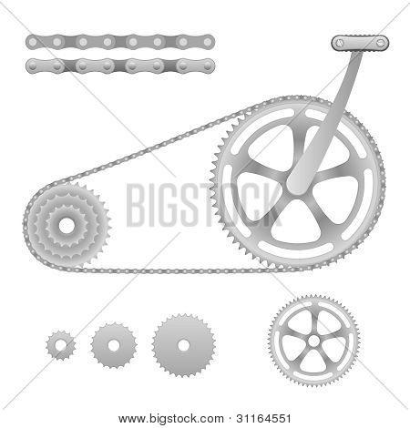 Vector bicycle gear