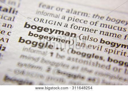 Word Or Phrase Bogeyman In A Dictionary