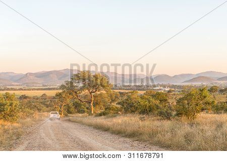 Kruger National Park, South Africa - May 3, 2019: The Road To The Malelane Bush Camp In The Kruger N