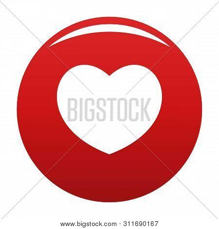 Sympathetic Heart Icon. Simple Illustration Of Sympathetic Heart Icon For Any Design Red