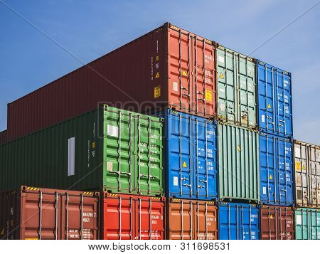 Containers Cargo Shipping Logistic Freight Warehouse Import Export Business