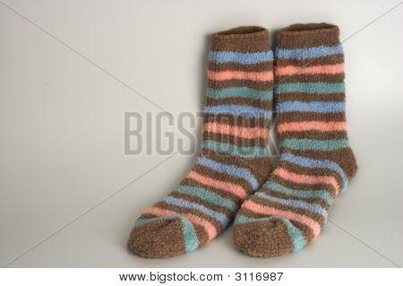 Striped Pair Of Socks