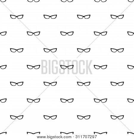 Astigmatic Eyeglasses Pattern Seamless Repeat Geometric For Any Web Design