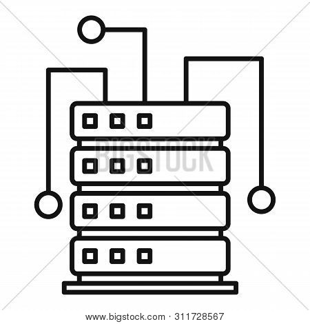 Ai Server Rack Icon. Outline Ai Server Rack Vector Icon For Web Design Isolated On White Background