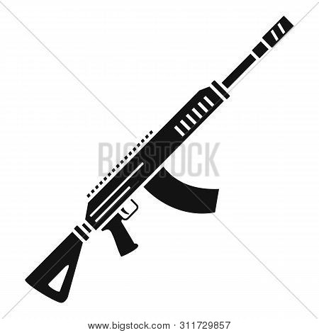 Rifle Shoot Icon. Simple Illustration Of Rifle Shoot Vector Icon For Web Design Isolated On White Ba