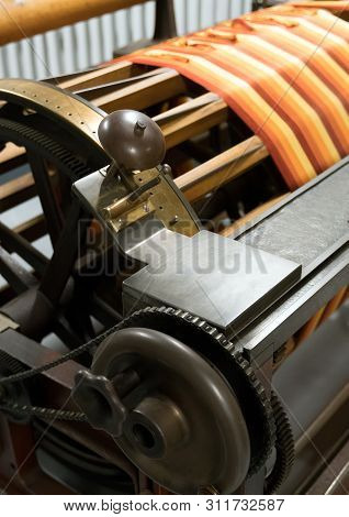 Sectional Warping Machine. Used To Prepare The Warp On The Beam.