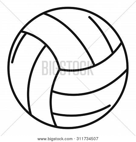 Volleyball Ball Icon. Outline Volleyball Ball Vector Icon For Web Design Isolated On White Backgroun