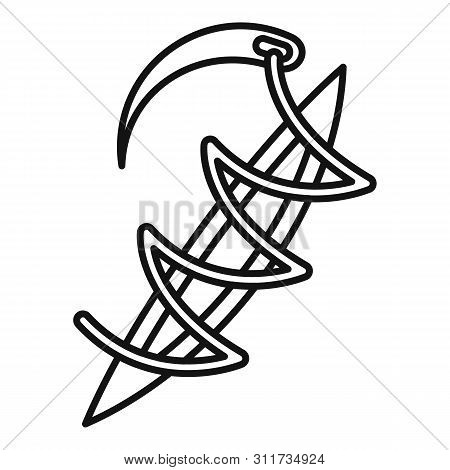 Medical Suture Icon. Outline Medical Suture Vector Icon For Web Design Isolated On White Background