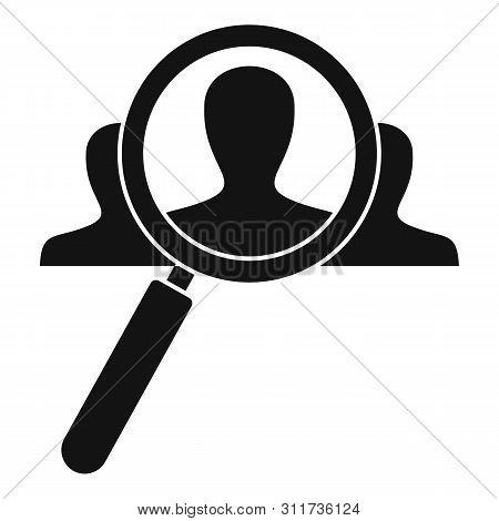 Recruitment Magnify Glass Icon. Simple Illustration Of Recruitment Magnify Glass Vector Icon For Web