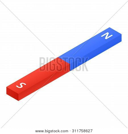 Magnetic Bar Icon. Isometric Of Magnetic Bar Vector Icon For Web Design Isolated On White Background