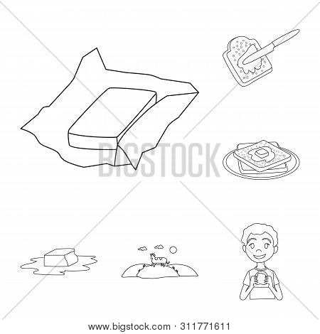 Bitmap Illustration Of Margarine And Cholesterol Symbol. Collection Of Margarine And Ingredient Stoc