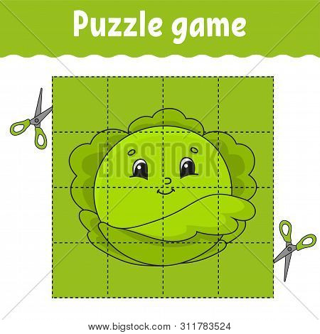 Puzzle game for kids. Education developing worksheet. Learning game for children. Activity page. For toddler. Riddle for preschool. Simple flat isolated vector illustration in cute cartoon style. poster