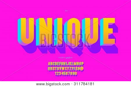Unique Font 3d Bold Style For Poster, T Shirt, Decoration, Banner, Infographics, Motion Graphic, Kid