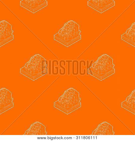 Rockfall Pattern Vector Orange For Any Web Design Best