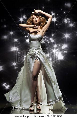 Wonderful lady wearing gorgeous dress