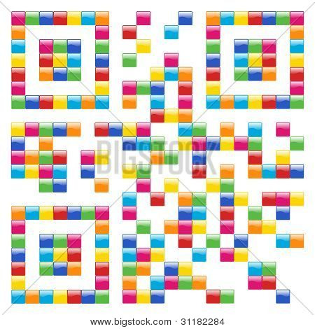 Multicolored Social Media Qr Code Design