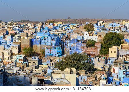 View Of Blue City Jodhpur. Rajasthan. India