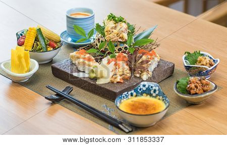 Slow Fire Sushi Platter Set Food In Japanese Style