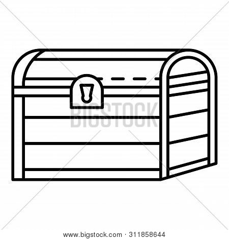 Pirate Dower Chest Icon. Outline Pirate Dower Chest Icon For Web Design Isolated On White Background