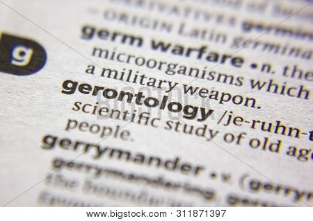 Word Or Phrase Gerontology In A Dictionary