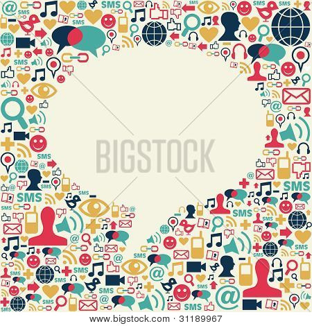 Social Media Talk Bubble Texture
