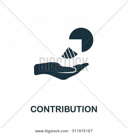 Contribution Vector Icon Symbol. Creative Sign From Investment Icons Collection. Filled Flat Contrib