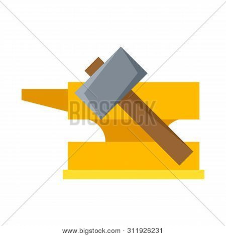 Vector Illustration Of Hammer And Hephaestus Sign. Collection Of Hammer And Olympus Vector Icon For