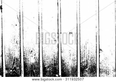Abstract Background, Old Wooden Wall, Vertical Wide Planks. Vector Wood Texture.