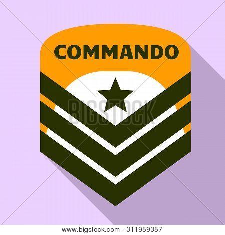 Commando Air Star Logo. Flat Illustration Of Commando Air Star Logo For Web Design