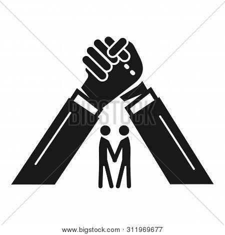 People Brotherhood Icon. Simple Illustration Of People Brotherhood Icon For Web Design Isolated On W