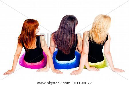 Pretty girls. Back view