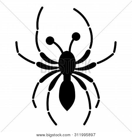 Halloween Spider Icon. Simple Illustration Of Halloween Spider Vector Icon For Web Design Isolated O