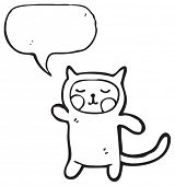 weird cat costume person cartoon poster