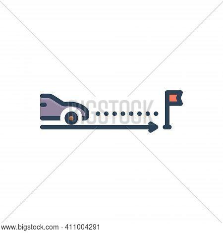 Color Illustration Icon For Expectation Expectancy Expectance Assumption Confidence Car Transport Pr