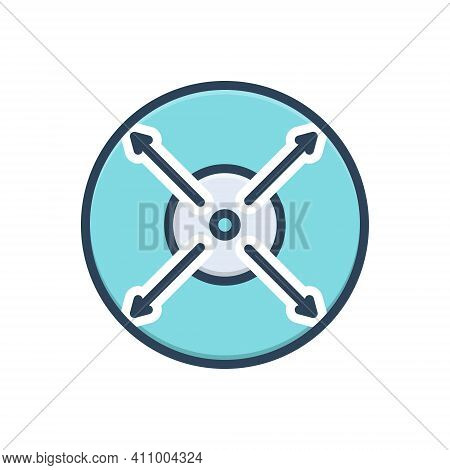 Color Illustration Icon For Extent Limit Range Zone Realm Midpoint Size Fullscreen Enlarge Enhance