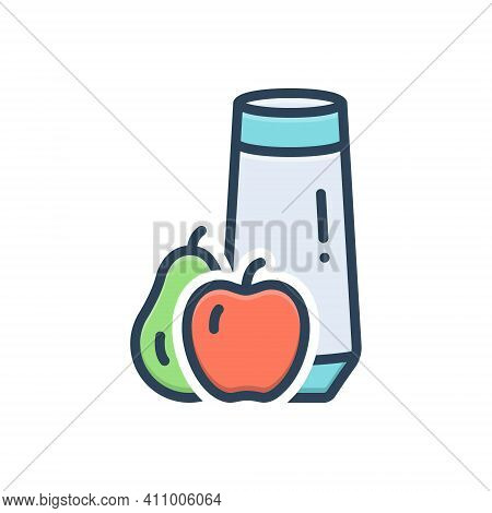 Color Illustration Icon For Truly Product Fruit Healthy Really  Genuinely Absolutely Actually Defini