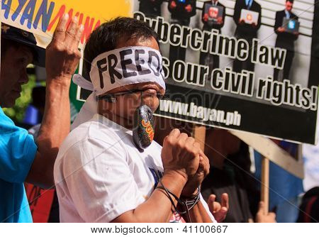 Internet freedom protest