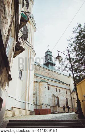 Przemysl, Poland - October, 2016: Cathedral Basilica Of Assumption Of The Blessed Virgin Mary And St